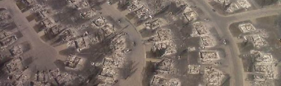 Aerial View of 2011 Slave Lake Fires by Alberta Emergency Management Agency