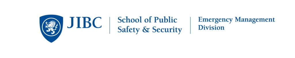 Justice Institute of British Columbia - School of Public Safety and Security - Emergency Management Division Logo Blue